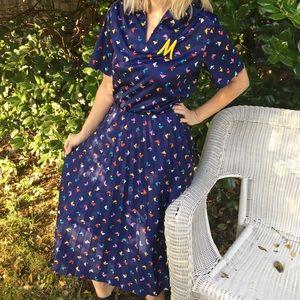 Vintage 80's Secretary Dress